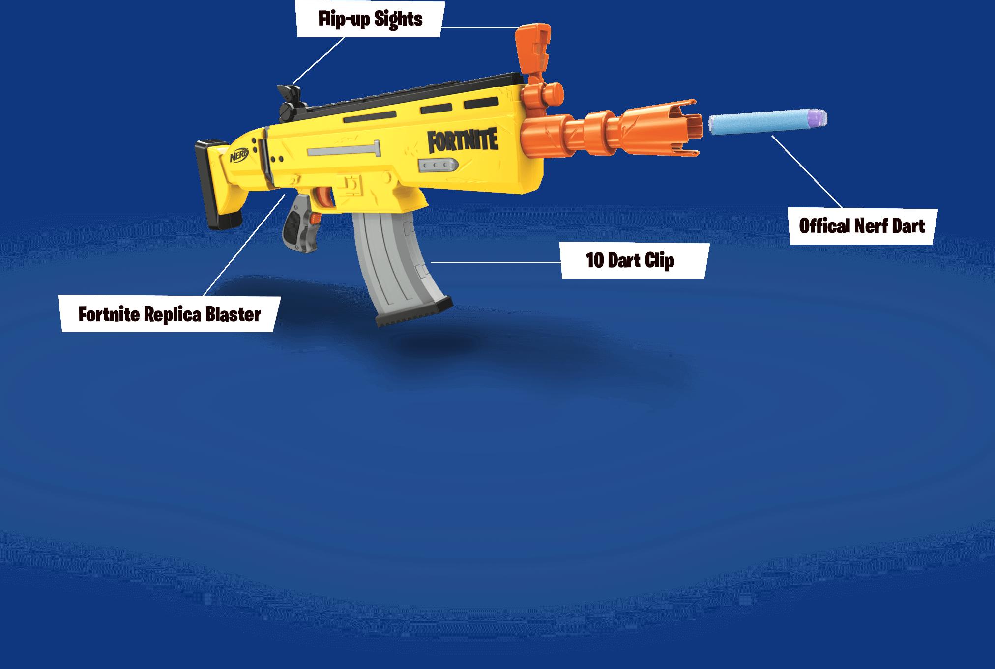 Nerf Fortnite AR-L Nerf Elite Dart Blaster with 20 Nerf Elite Darts