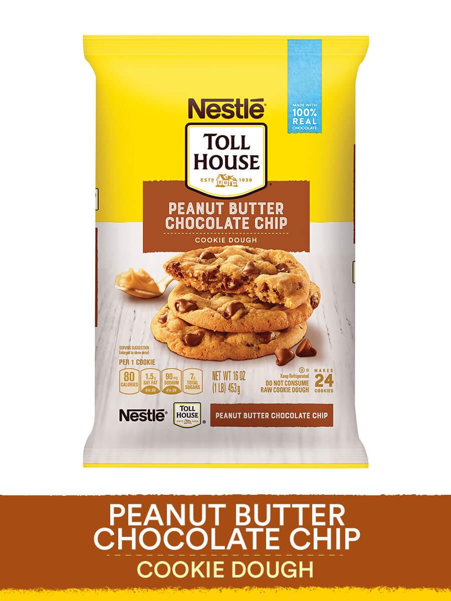 Nestle Toll House Peanut Butter Chocolate Chip Cookie Dough 16 Oz Walmart Com Walmart Com