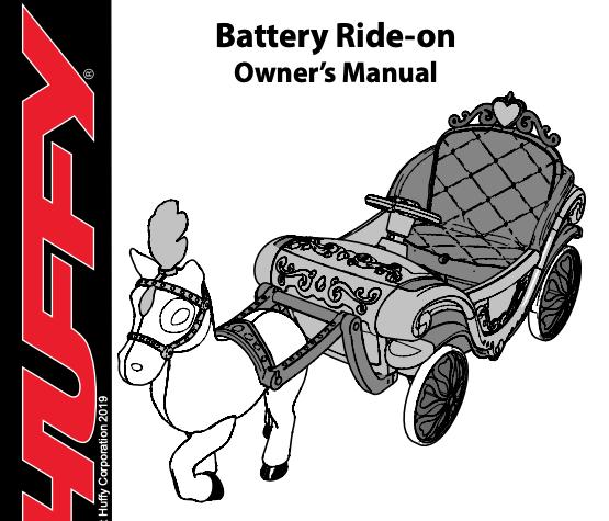 Princess Carriage Ride-On Manual