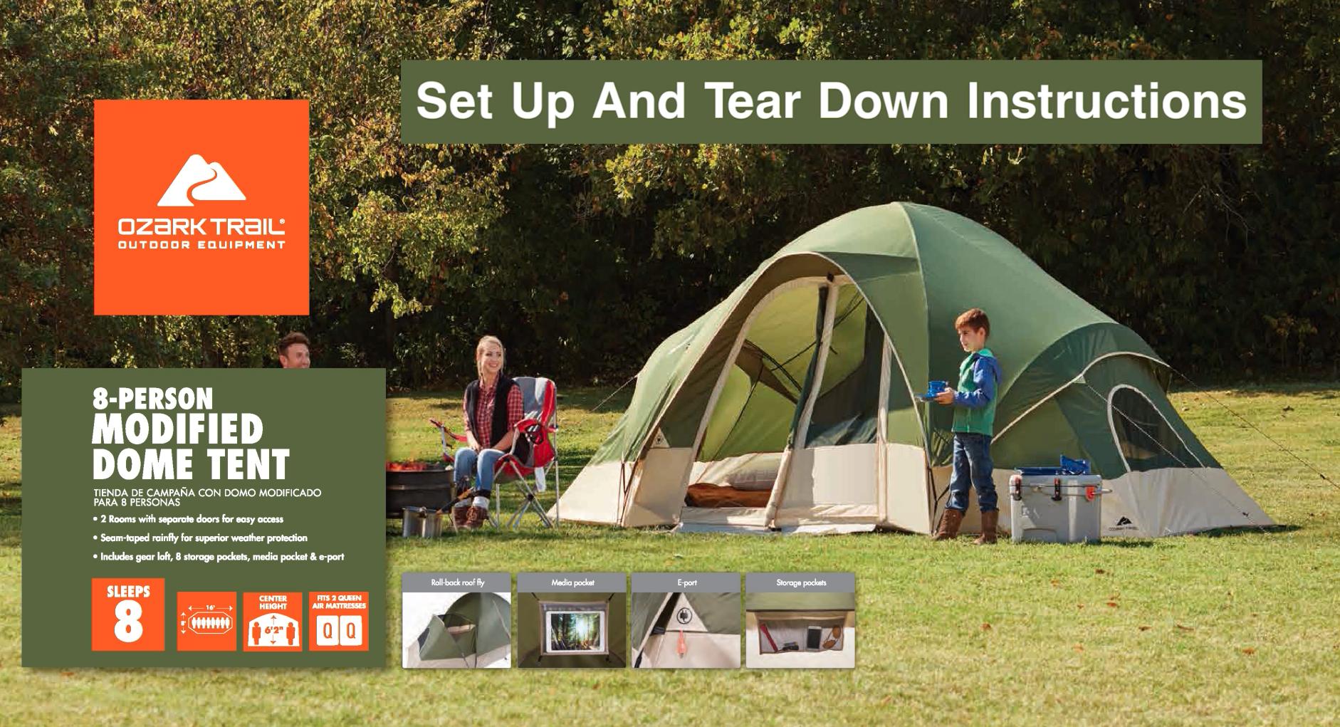Ozark trail tents instruction manual
