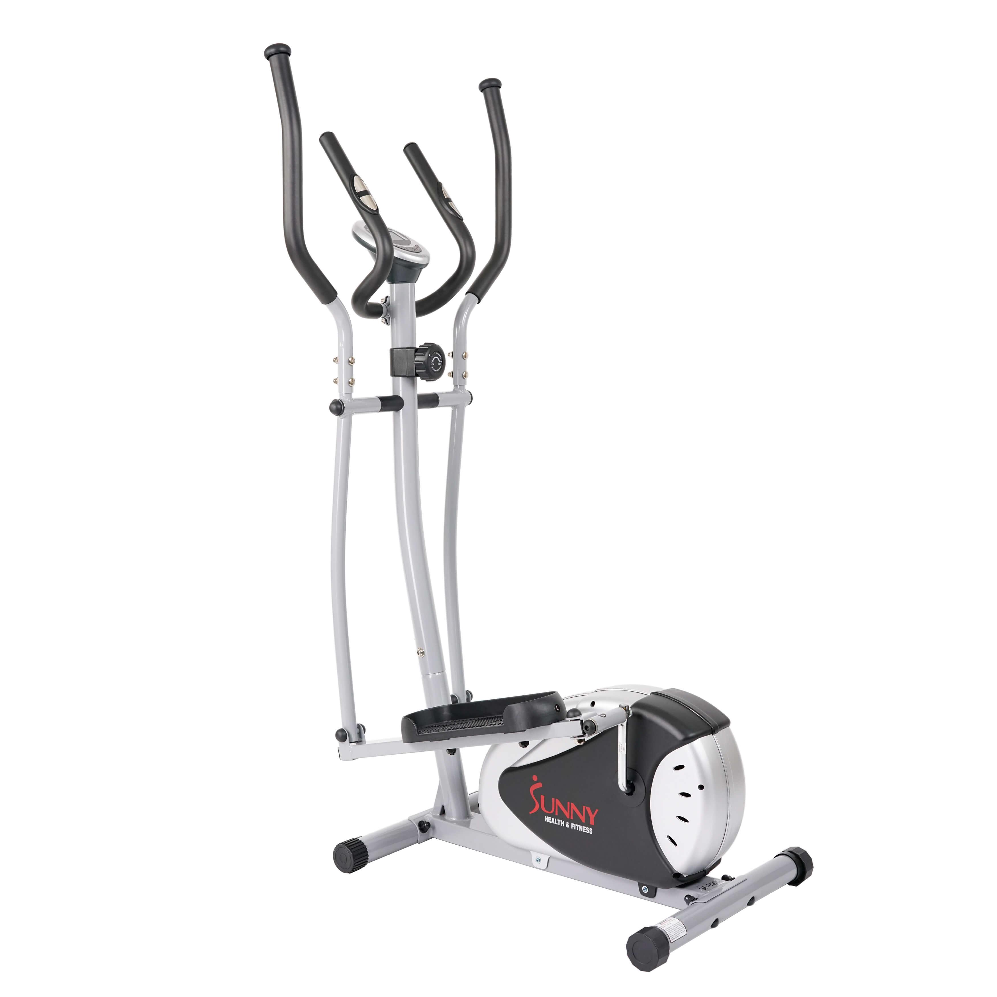 Sunny Health & Fitness SF-E905 Magnetic Elliptical Bike Elliptical Machine w/ LCD Monitor and Heart Rate Monitoring