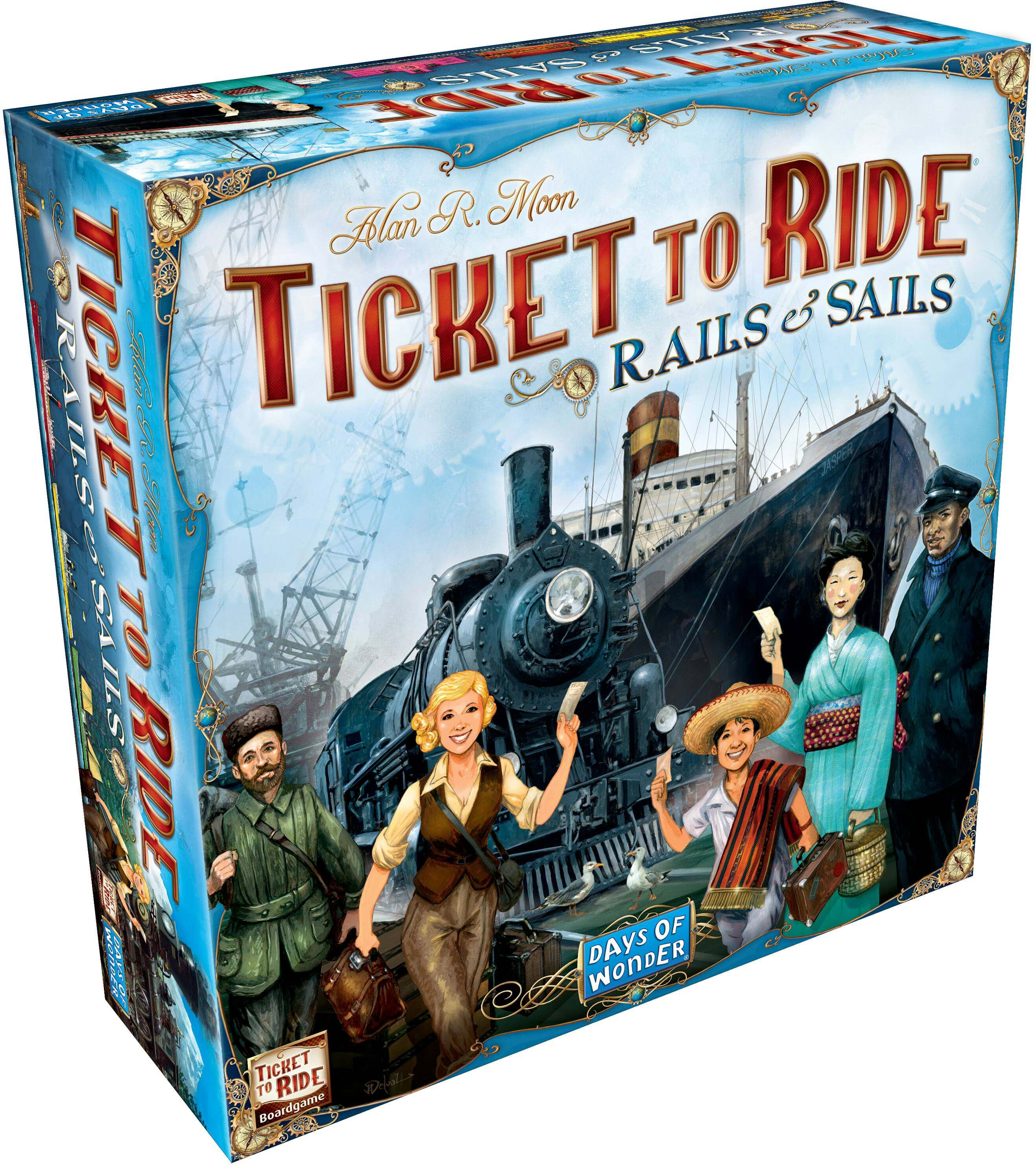 Ticket to Ride: Rails & Sails Strategy Board Game - Walmart com