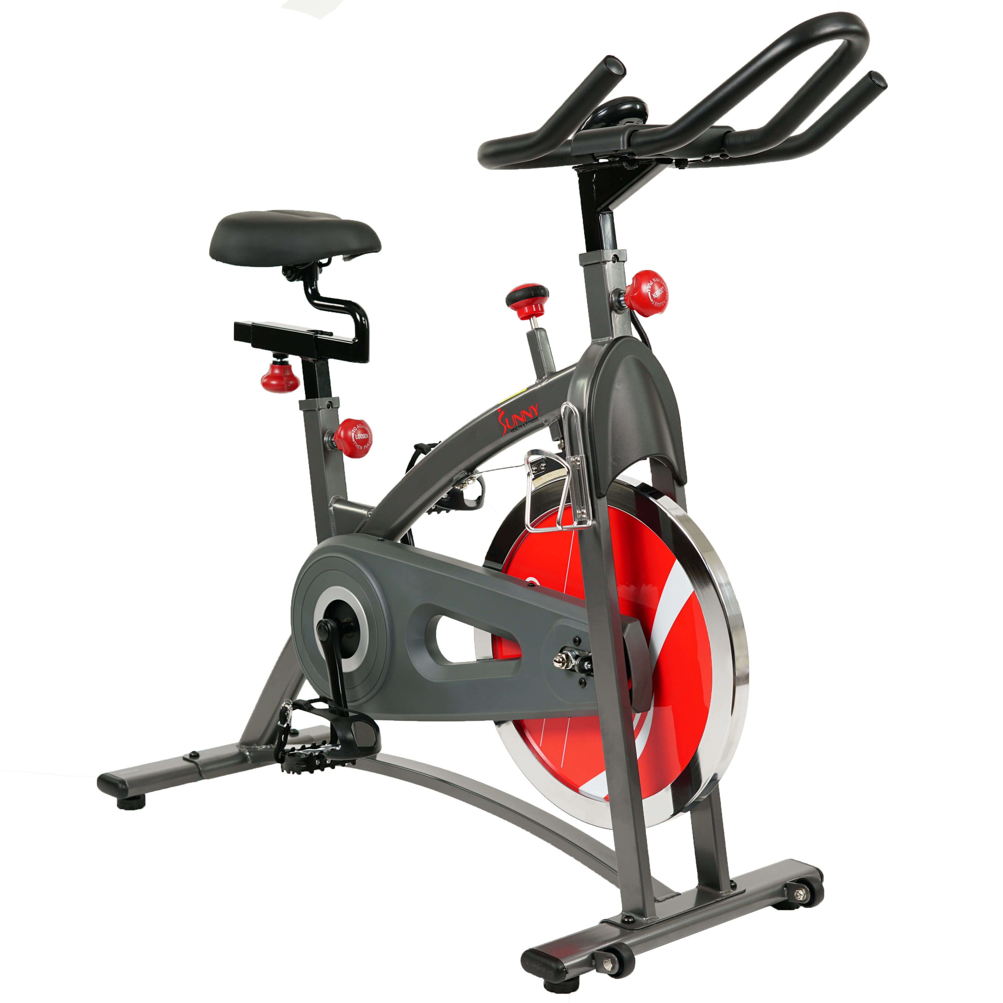 Sports & Outdoors Sunny Health & Fitness SF-B1423 Belt Drive Indoor Stuido Cycle Exercise Bike w/LCD Monitor