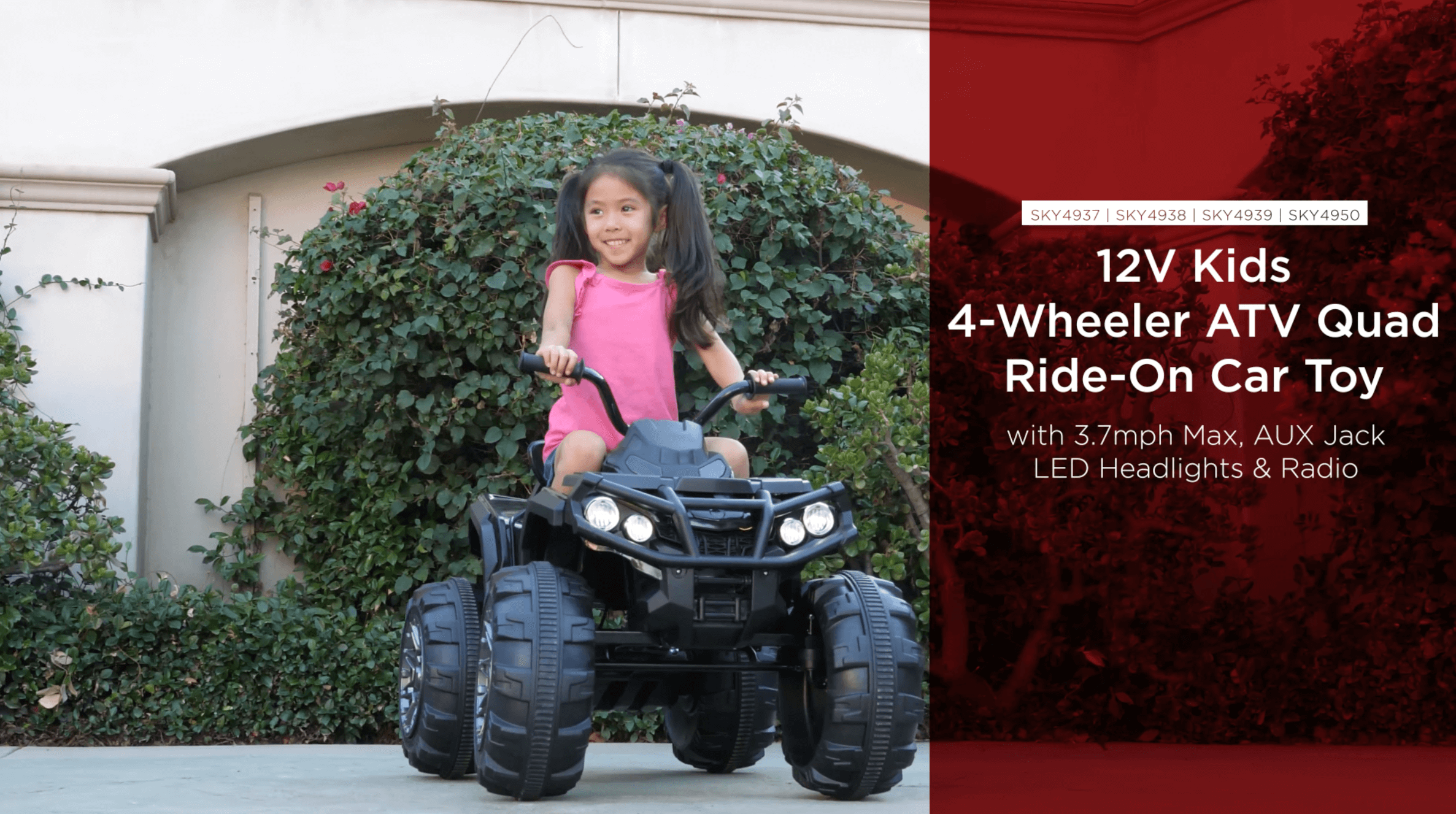 newest 2e7d4 a4e87 Best Choice Products 12V Kids Battery Powered Electric Rugged 4-Wheeler ATV  Quad Ride-On Car Vehicle Toy w  3.7mph Max Speed, Reverse Function, ...