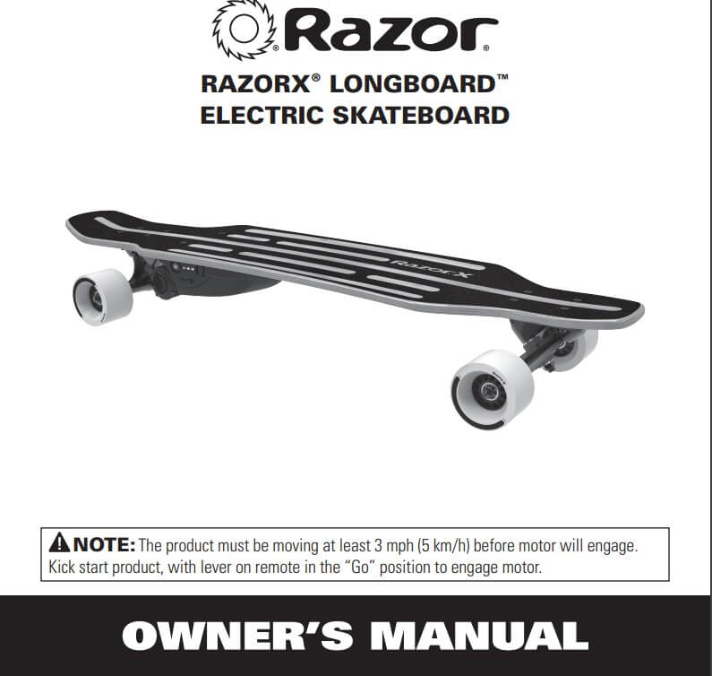 Razor Electric Longboard Skateboard With Bamboo Wood Deck