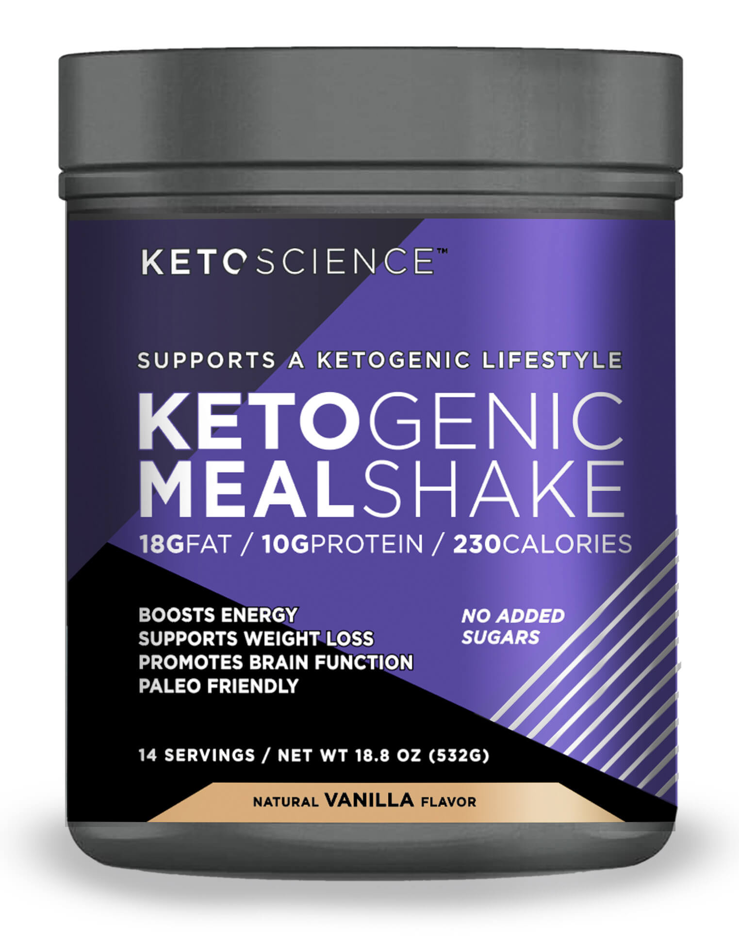 Keto Science Ketogenic Meal Shake Vanilla Dietary Supplement Meal Replacement Weight Loss Intermittent Fasting 20 7 Oz 587 G 14 Servings Walmart Com Walmart Com