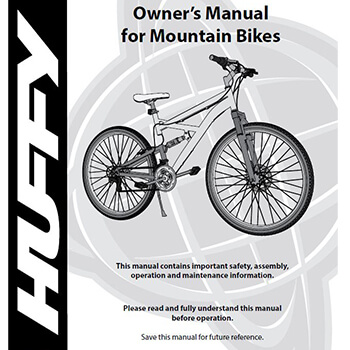 Owner's Manual for Mountain Bikes