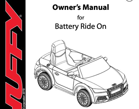 Audi car ride-on Manual