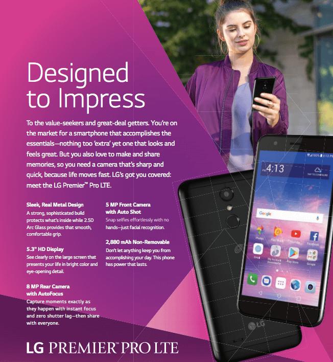TracFone LG Premier Pro 4G LTE Prepaid Smartphone - Walmart com