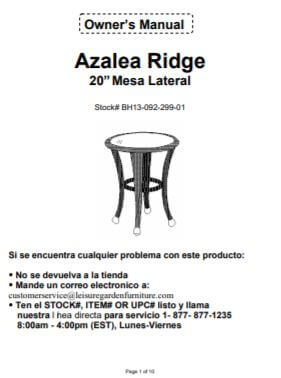 #6218 Side Table White - Spanish Version