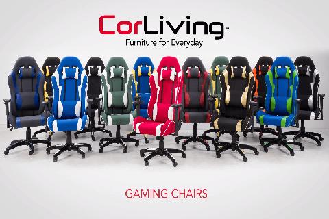 Brilliant Corliving High Back Adjustable Ergonomic Gaming Chair Grey Ibusinesslaw Wood Chair Design Ideas Ibusinesslaworg