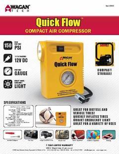 Wagan Tech Quick Flow Compact Air Compressor Walmart Com