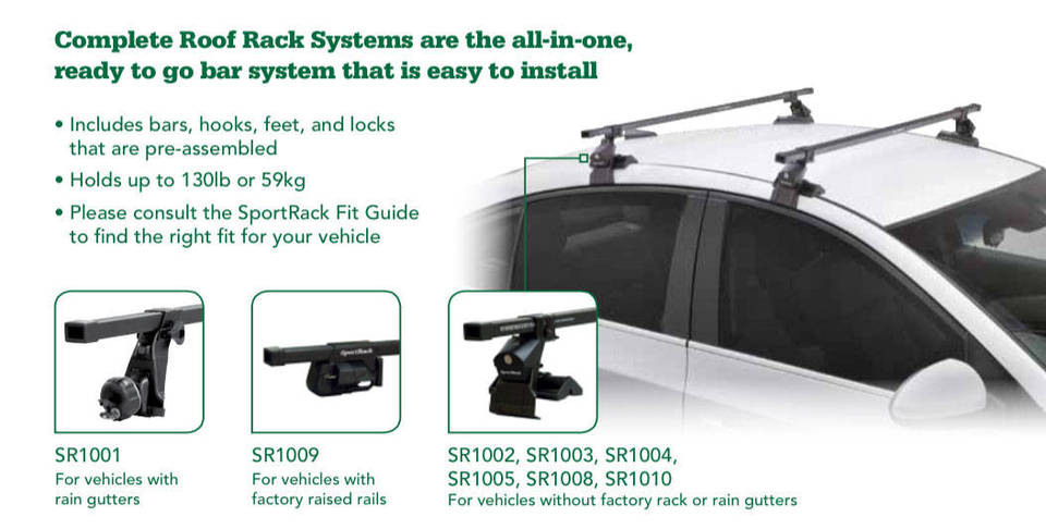 SportRack Complete Roof Rack System Black