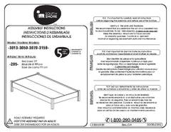 Mainstays Parklane Twin Platform Bed And Headboard Assembly Instructions