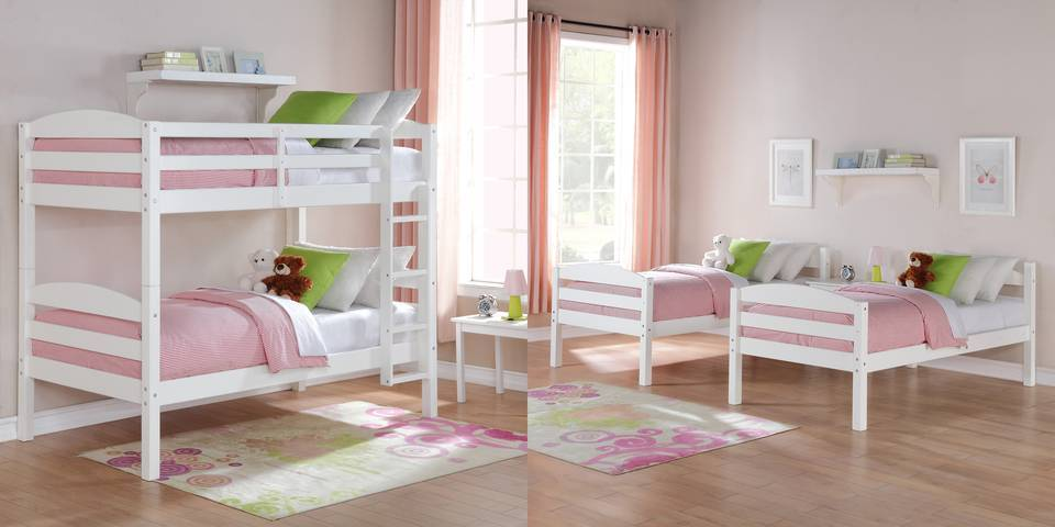 Better Homes And Gardens Leighton Twin Over Twin Wood Bunk Bed Multiple Finishes