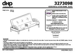 Product Manual And Embly Instructions