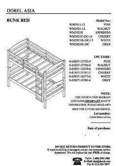 mainstays twin over twin wood bunk bed assembly instructions Better Homes and Gardens Leighton Twin Over Twin Wood Bunk Bed ...