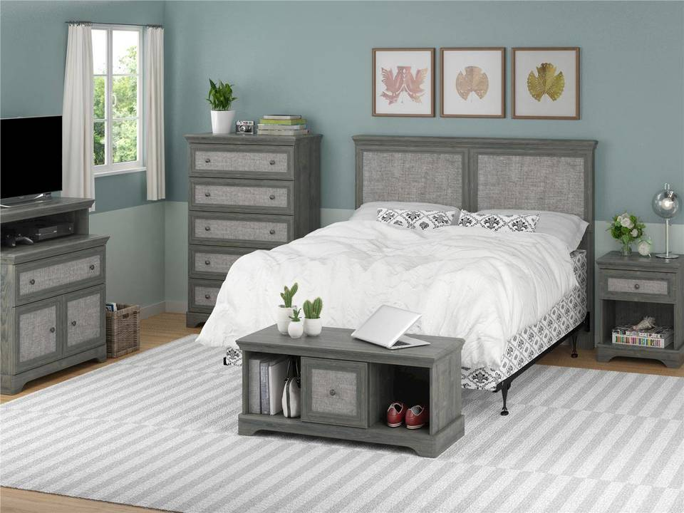 Sensational Ameriwood Home Stone River 5 Drawer Dresser With Fabric Inserts Rustic Oak Home Interior And Landscaping Synyenasavecom