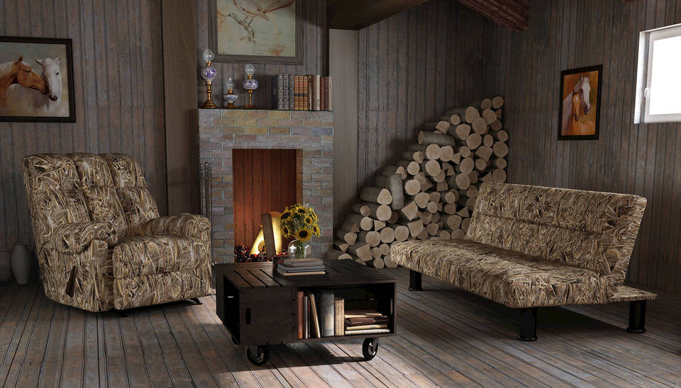 Charming Realtree Max 5 ® Camouflage Recliner U0026 Futon Bundle