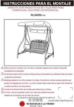 Mainstays Jefferson Wrought Iron 2 Person Outdoor Canopy Porch Swing