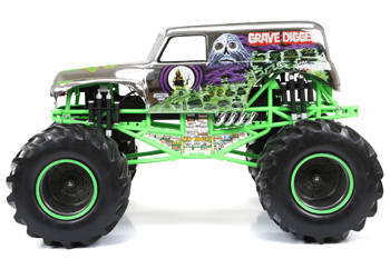 New Bright R/C F/F 12 8-Volt 1:8 Monster Jam Grave Digger, Chrome