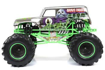 New Bright R/C F/F 12 8-Volt 1:8 Monster Jam Grave Digger, Chrome