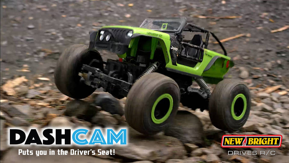 New Bright RC 1:14 Scale VR Dash Cam Rock Crawler Jeep Trailcat