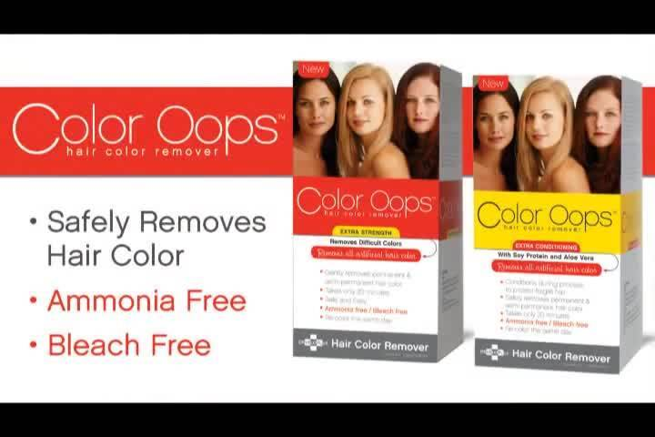 Color Oops Gentle Hair Dye Remover Restores To Natural Hair Color