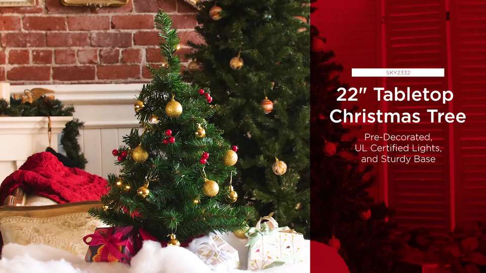 c54b9da2c5c Best Choice Products 22in Pre-Lit Battery Operated Tabletop Mini Artificial  Christmas Tree Decor w  UL-Certifed LED Lights