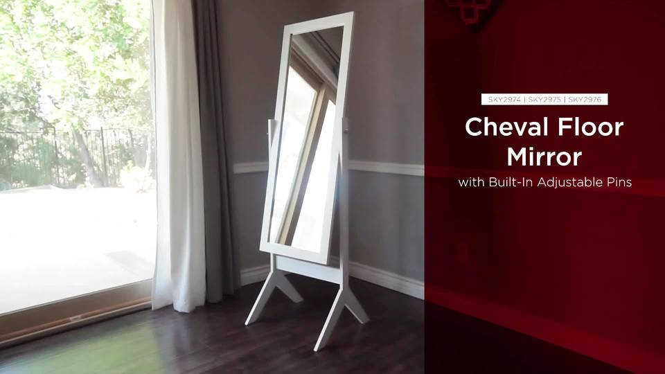 Best Choice Products Cheval Floor Mirror Bedroom Home Furniture ...