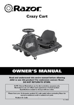 Razor 24 Volt Electric Powered Drifting Crazy Cart For
