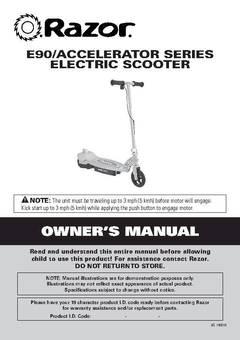 razor accelerator 12 volt electric scooter walmart com rh walmart com razor e90 electric scooter battery charger razor e90 electric scooter parts