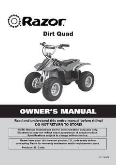 razor 24 volt electric dirt quad ride on walmart com rh walmart com Kawasaki 350 ATV 2WD Red Kawasaki 350 ATV 2WD Red