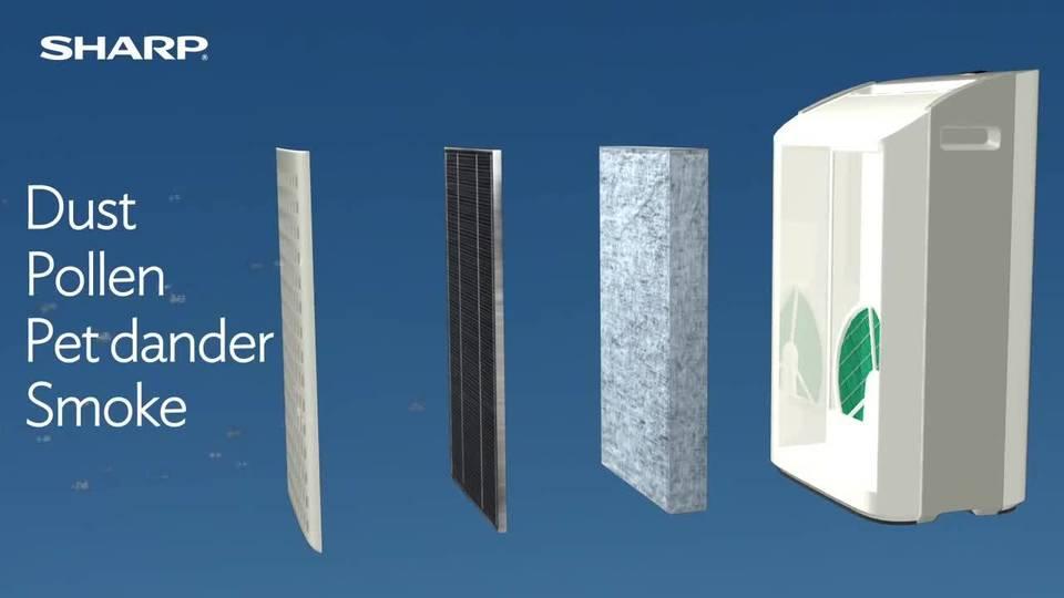 Array - sharp energy star kc 860u plasmacluster air purifier with humidifying function  rh   walmart com