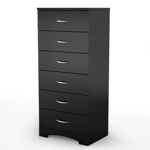 South Shore Soho  Drawer Tall Chest Pure Black