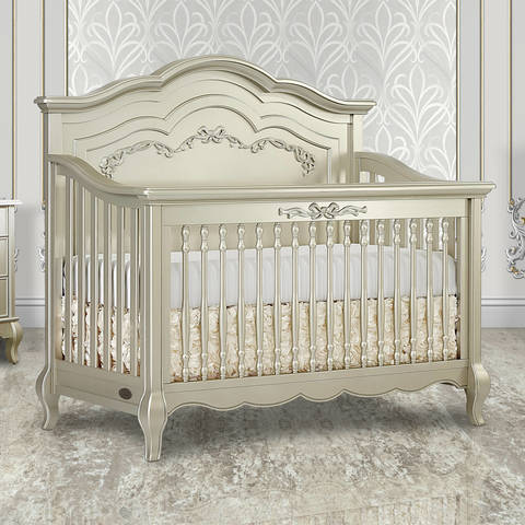 Evolur Convertible Crib Wooden Bed Rail Gold Dust Full Size
