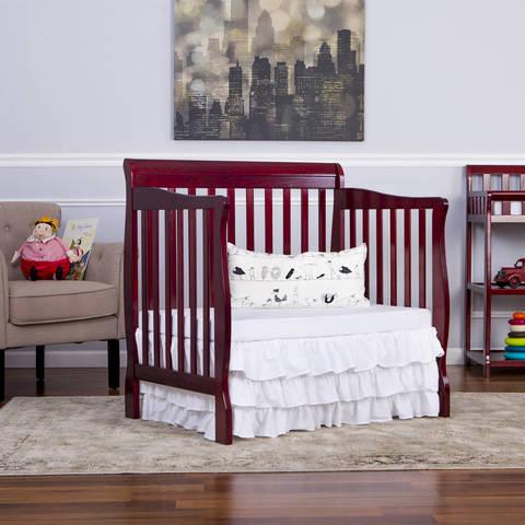 Dream On Me Aden 4in1 Convertible Mini Crib Mystic Gray Walmartcom