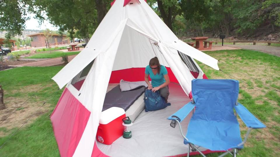& Ozark Trail 7 Person Teepee Tent - Walmart.com