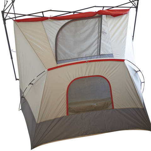 A top down view with the canopy off shows the tent simply clips onto your 10u0027x10u0027 straight-leg canopy frame.  sc 1 st  Walmart & Ozark Trail 4-Person ConnecTent for Canopy - Walmart.com