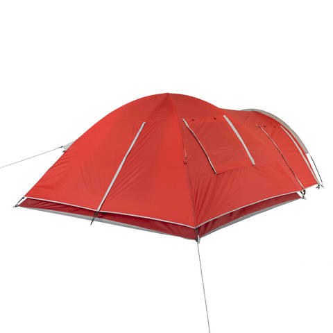 Rear view of the tent with the rainfly on.  sc 1 st  Walmart.com & Ozark Trail 4-Person Dome Tent with Vestibule and Full Coverage ...