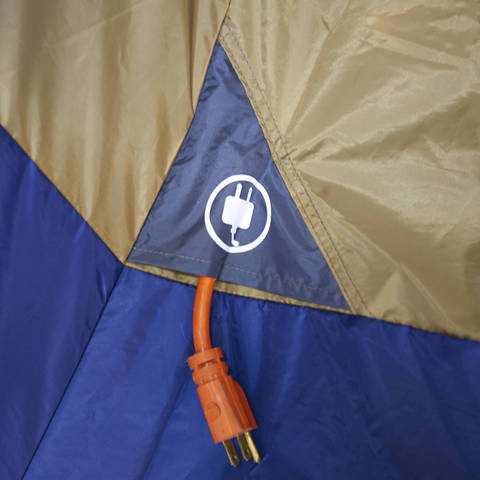 The E-Port allows convenient access for an electrical cord without unzipping the door of the tent. & Ozark Trail 14-Person 4-Room Base Camp Tent - Walmart.com