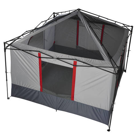 A top down view with the canopy off shows the tent simply clips onto your 10u0027x10u0027 straight-leg canopy frame.  sc 1 st  Walmart & Ozark Trail 6-Person ConnecTent for Canopy - Walmart.com