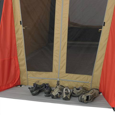 7df44afd18 Ozark Trail 10-Person 3-Room Vacation Tent with Shade Awning ...