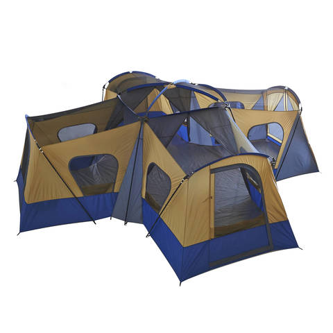 Spacious interior  sc 1 st  Walmart & Ozark Trail 14-Person 4-Room Base Camp Tent - Walmart.com
