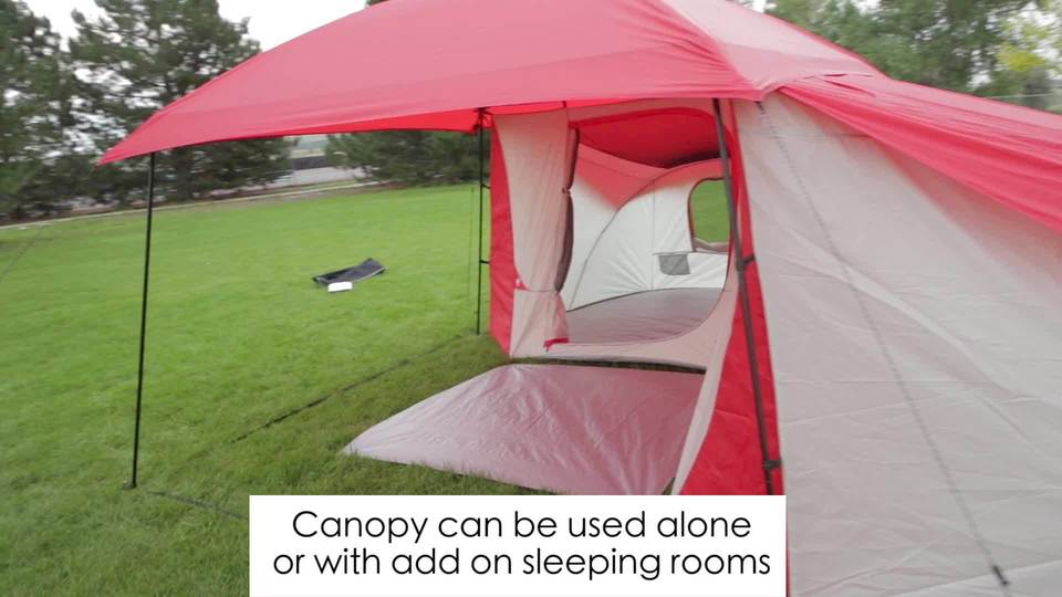 Ozark Trail 8-Person Dome ConnecTent with Versatile Canopy - Walmart.com & Ozark Trail 8-Person Dome ConnecTent with Versatile Canopy ...